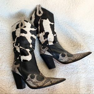 Vero Cuoio Cowboy Boots with Real Leather souls